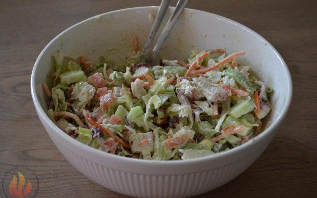 Salade gerookte kip en avocado