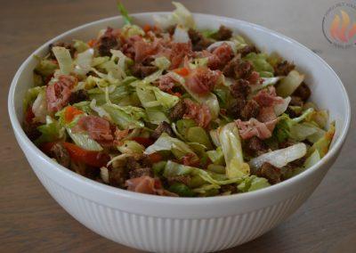 Salade serranoham met avocado