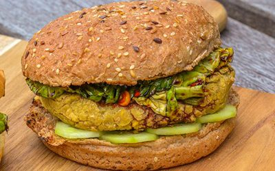 Vegetarische pikante linzenburger
