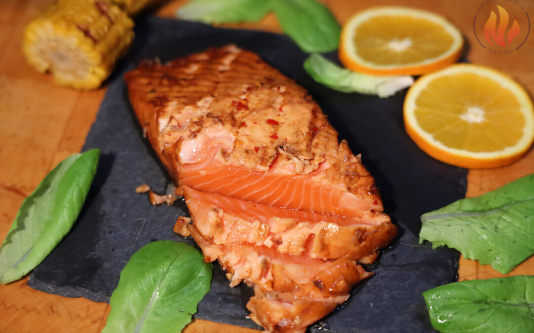 Oosters gegrilde zalm